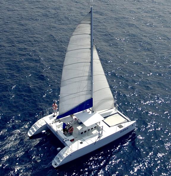 ハワイ島コナヨットセーリングボート